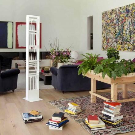 Modernes Bücherregal mit Weißmetallregalen Made in Italy - Bolivia