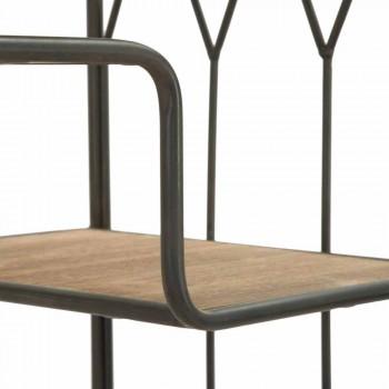 Industrial Modern Design Floor Bücherregal aus Eisen und MDF - Chuck