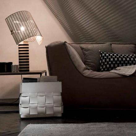 Lory Design Wand-montiert Lederzeitschrift Rack, hergestellt in Italien