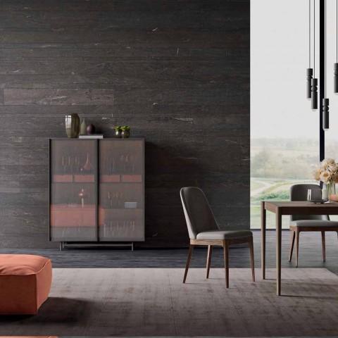 2-türiges Sideboard aus ökologischem Holz- und Metalldesign Wohnzimmer oder Eingang - Aaron