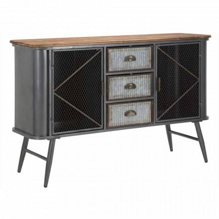 Vintage Industrie Eisen und Holz Design Wohnzimmer Sideboard - Akimi