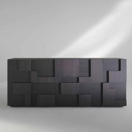 Modernes Sideboard Madia aus Thermoholz in Lärche Azaela