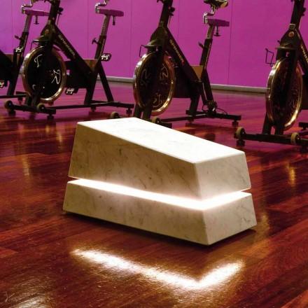Stein Gartenleuchte Marmor mit Lautsprecher Minimal Sound, Einzelstück