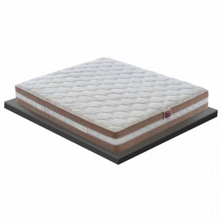 Hochwertige Doppelmatratze aus Memory Foam H 25 cm - Carbone