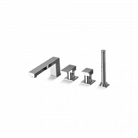 Made in Italy Design Messing 4-Loch-Badewannenmischer - Panela