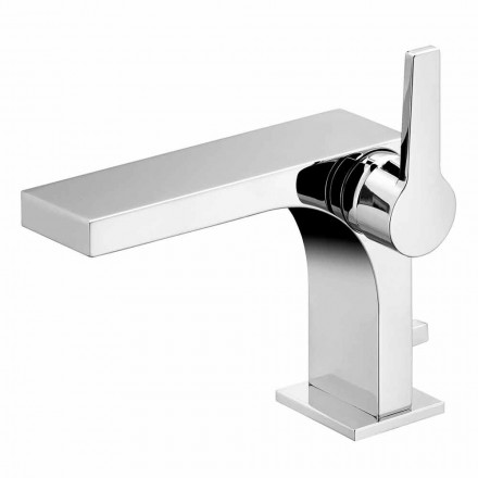 Einhebel-Waschtischmischer mit Ablauf in Messing von Design-Etto