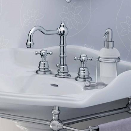 Moderner dreilochiger Waschbeckenmischer aus Messing, hergestellt in Italien - Binsu