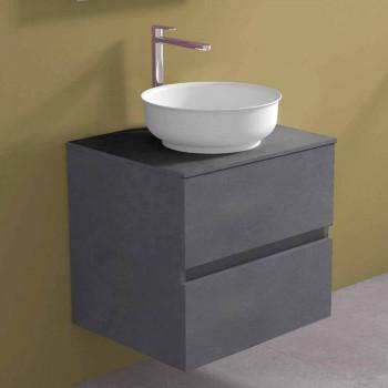 Abgehängter Badezimmerschrank mit rundem Waschtisch, modernes Design - Dumbo