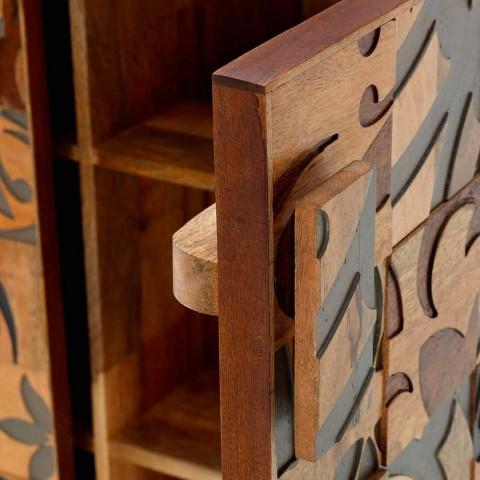 Design-Schrank mit zwei Türen aus Mangoholz, Cellara