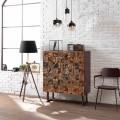 Aufbewahrungsmöbel von Design mit zwei Türen aus Mangoholz Cellara