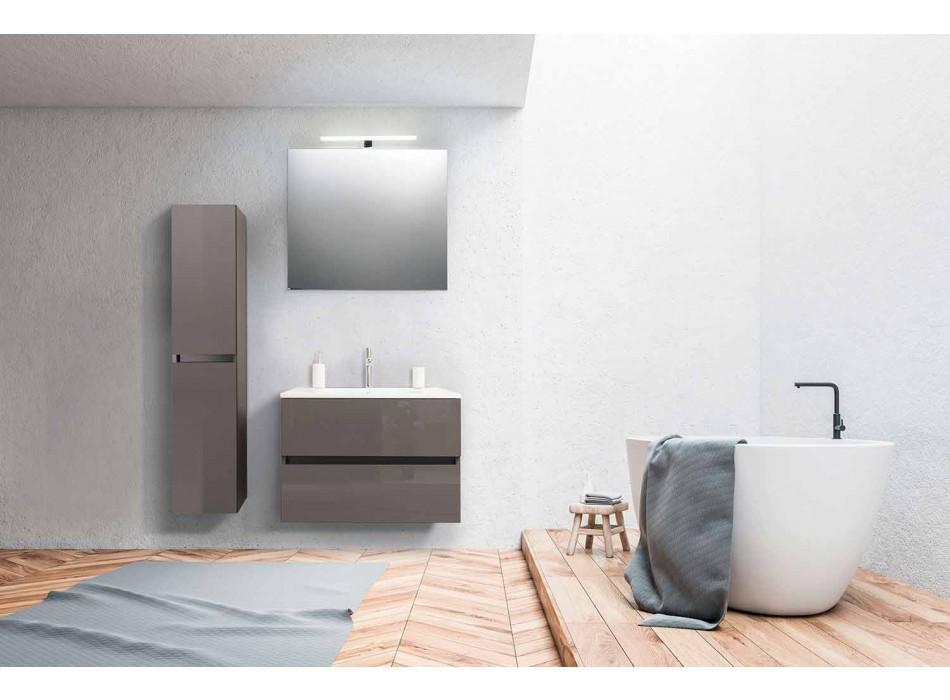 Aufgehängte Badezimmermöbel in MDF lackiert Made in Italy - Becky