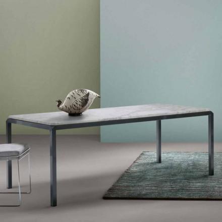 Design Tisch in Weiß My Home Bebop Marmor in Italien hergestellt
