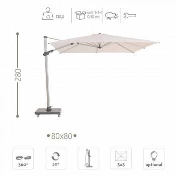 Hochwertiger 3x3 Outdoor-Regenschirm aus Stoff und Granit - Venere von Talenti