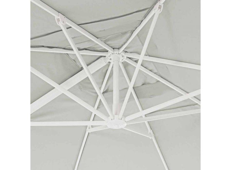 3x4 Aluminium Gartenschirm mit Polyestergewebe - Fasma