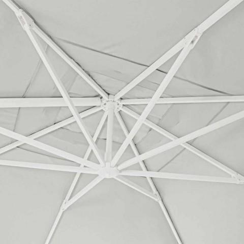 4x4 Gartenschirm mit naturfarbenem Polyestergewebe - Fasma