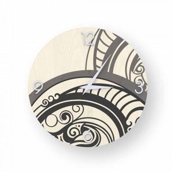 Adro abstrakte Design Wanduhr aus Holz, hergestellt in Italien