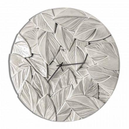 Runde moderne Design Keramik Wanduhr Made in Italy - Fogliao