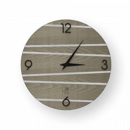 Moderne Wanduhr aus Holz Marzio, zu 100% in Italien hergestellt