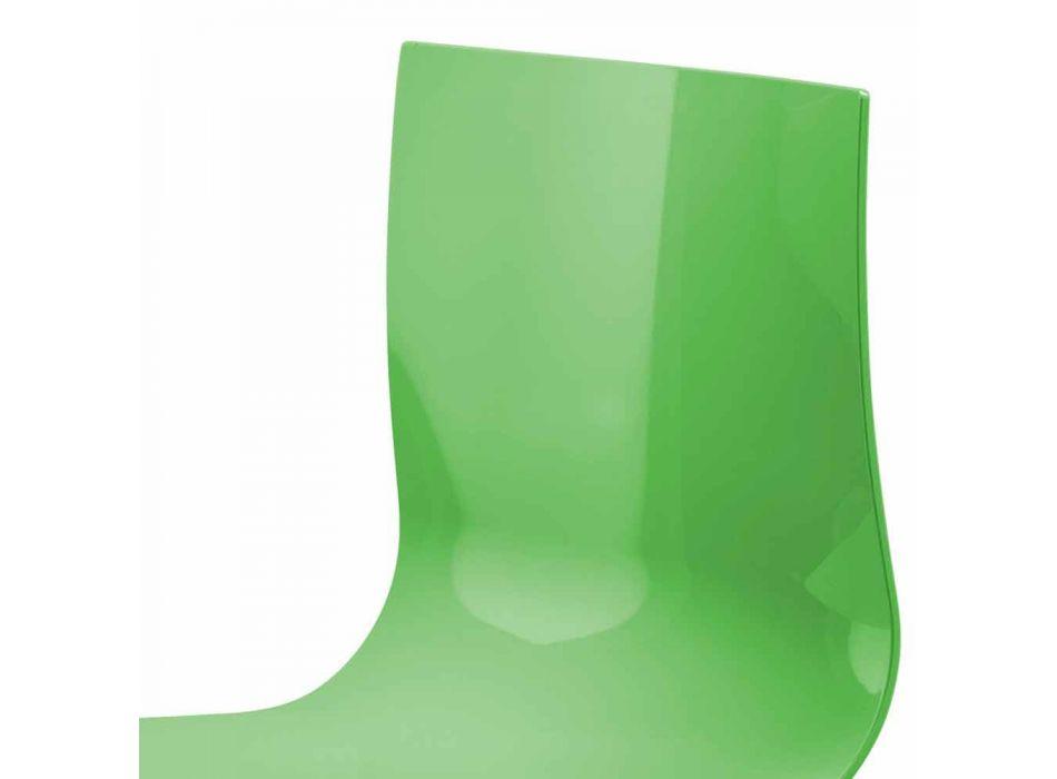 3-Sitzer-Bürobank aus Stahl und farbigem recyceltem Technopolymer - Verenza