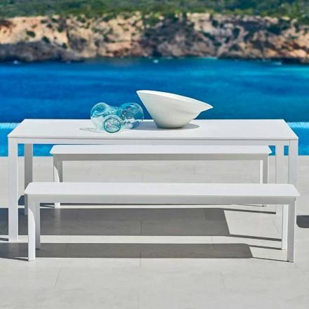 Design Outdoor-Bank Varaschin System aus lackiertem Aluminium
