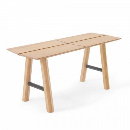 Moderne Designbank aus Eschenholz mit furniertem Sitz - Andria
