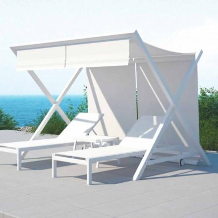 Outdoor Design Sonnenschutz aus Aluminium und Textilene - Donau