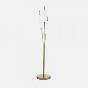 3-flammige Stehlampe aus Messing und Glas Modernes elegantes Design - Typha von Il Fanale