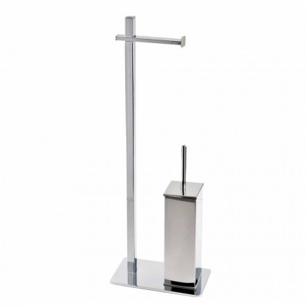 Modernes Design Eisenständer für Toilettenbürste und -rolle Hergestellt in Italien - Cali