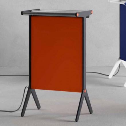 Strahlungsplatte in Aluminium und elektrischem und farbigem Stoffdesign 150 W - Sam
