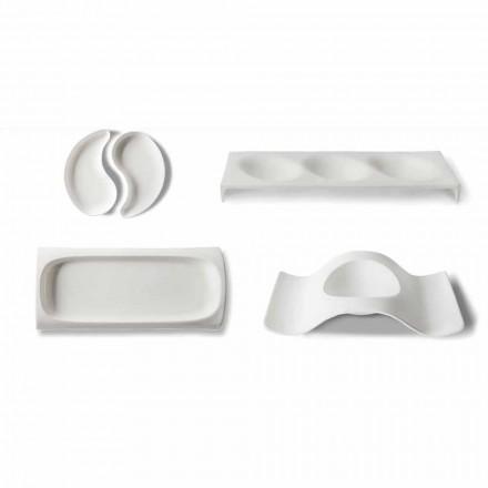 Gourmet Design Vorspeise Service Teller in Bone China 9 Stück - Flavia