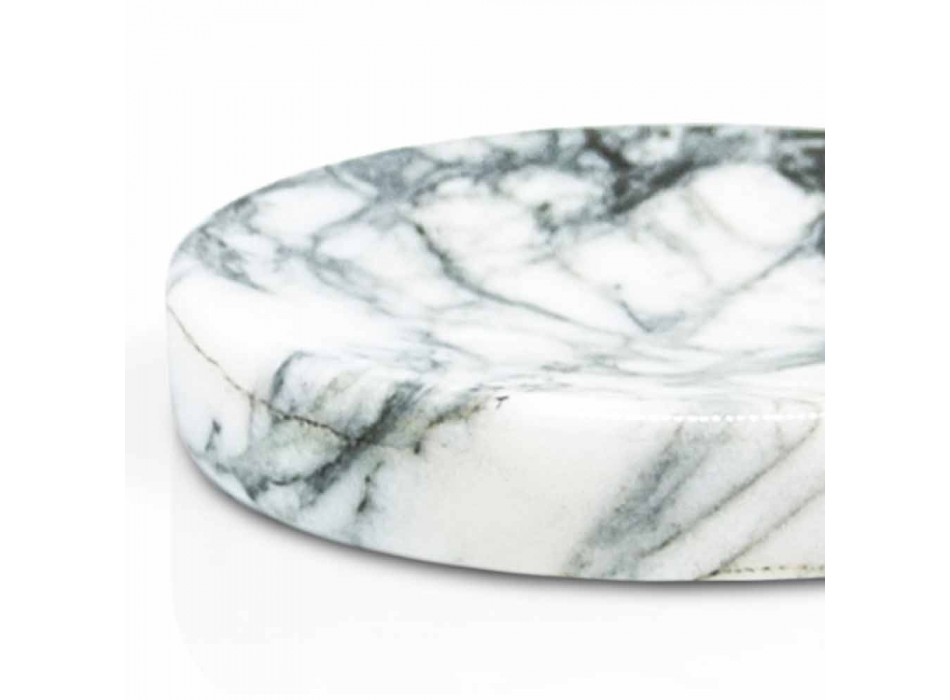 Bad Seifenschale aus Paonazzo Marmor Modern Made in Italy - Argos