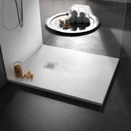 Duschwanne 100x80 in Resin Stone Effect Finish Modernes Design - Domio