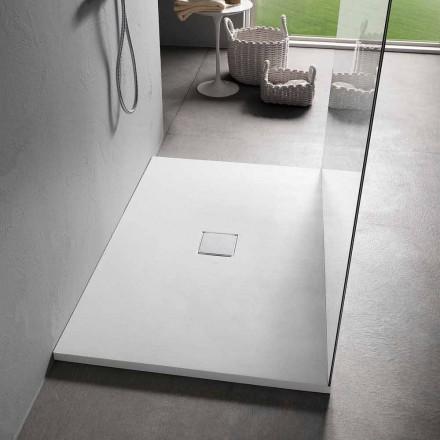 Moderne Duschwanne 140x70 in weißem Samteffekt - Estimo