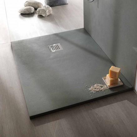 Modernes Design Duschwanne 120x70 aus Beton-Effekt-Harz - Cupio