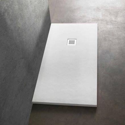Moderne rechteckige Duschwanne 160x80 aus Stein-Effekt-Harz - Domio