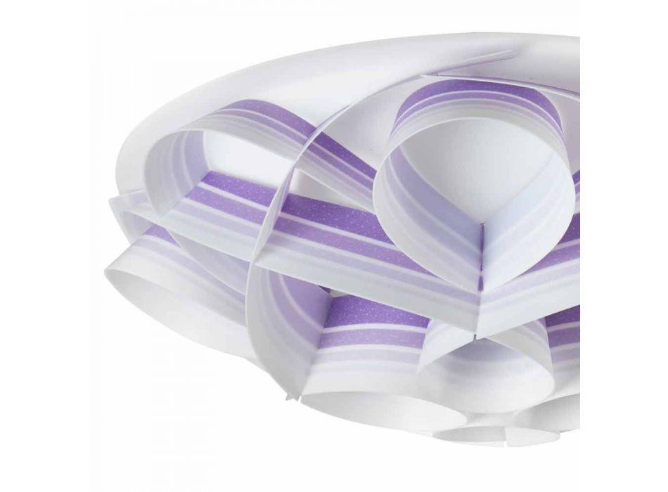 4 Leuchten moderne Design-Deckenleuchte made in Italy, Durchm. 70 cm, Lena