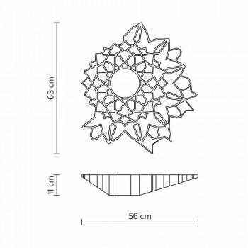 Deckenleuchte Applikation in Technopolymer Weiß oder Gold Design 2 Größen - Kathedrale