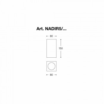 Deckenquadrat Beton oder Gips Nadir 5 Aldo Bernardi