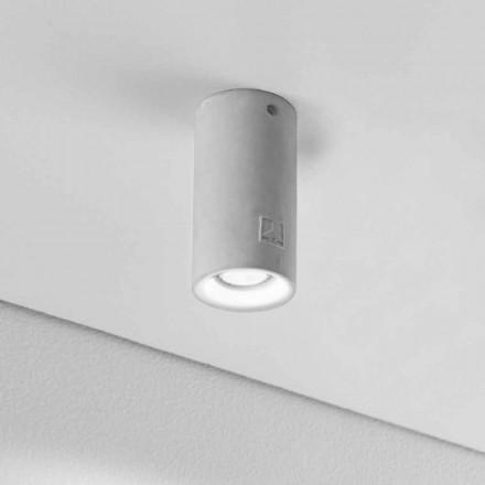 Runde Deckenlampe aus Beton oder Gips Nadir 12 Aldo Bernardi