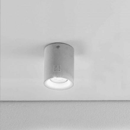 Runde Deckenlampe Beton/Gips für den Außenbereich Nadir 10