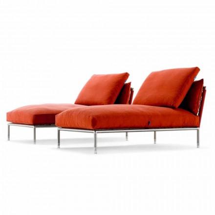 Chaiselongue Sessel des modernen Designs für Garten Made in Italy - Ontario1