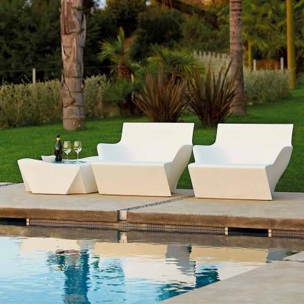 Outdoor / Indoor Sessel mit Armlehnen Slide Kami San, made in Italy