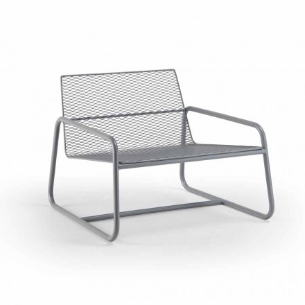 Outdoor Metall Sessel mit Luxuskissen Made in Italy - Karol