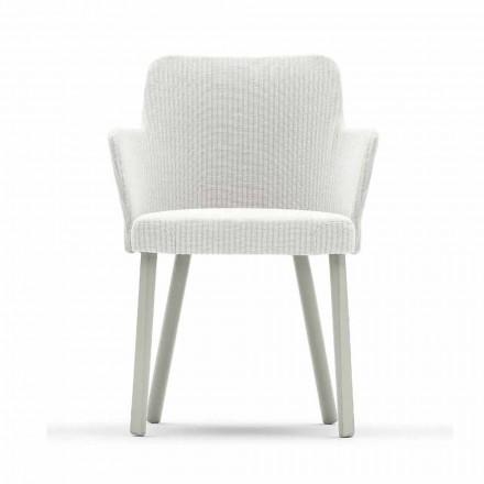 Design Outdoor-Sessel aus Aluminium und Stoff Varaschin Emma