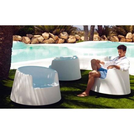 Moderner Gartensessel aus Polyethylen, Roulette von Vondom