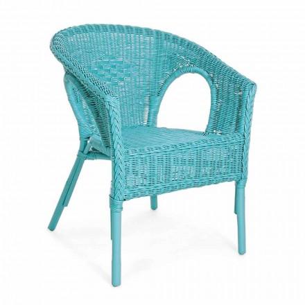 Entwerfen Sie einen stapelbaren Gartensessel aus weißem, blauem oder grünem Rattan - Favolizia