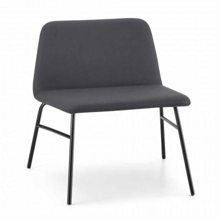 Hochwertiger Wohnzimmer Sessel aus Stoff und Metall Made in Italy - Molde