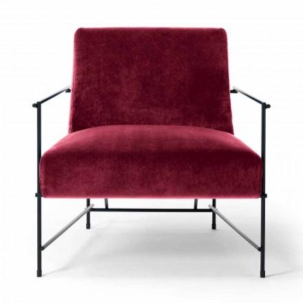 Stoff Wohnzimmer Sessel mit Metallstruktur Made in Italy - Manila