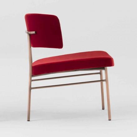 Wohnzimmer Sessel aus Samt mit Metallstruktur Made in Italy - Alaska