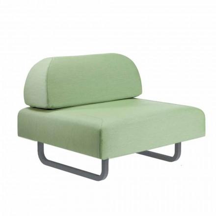 Outdoor Design Sessel aus Metall und Stoff Made in Italy - Selia